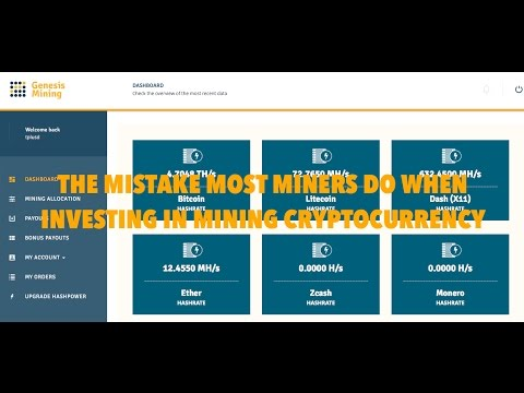 THE MISTAKE MOST MINERS DO WHEN INVESTING IN MINING CRYPTOCURRENCY