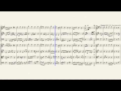 3 Choral Harmonies (BWVs 250-252) for Brass Trio & Strings