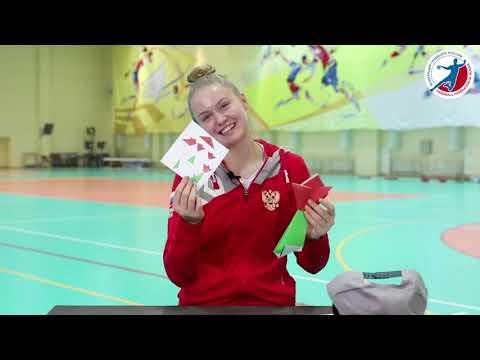 Оригами сборной России | Елена Михайличенко и тюльпан