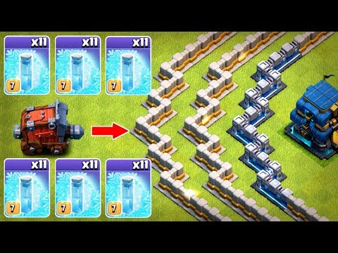 1 WALL WRECKER 11 FREEZE SPELLS..........WHAT HAPPENS NEXT!? - Clash Of Clans