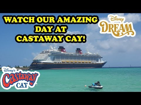 Castaway Cay Bike Trail to SECRET Tower on the Disney Dream. Pelican Plunge, and Kids Play Barge!