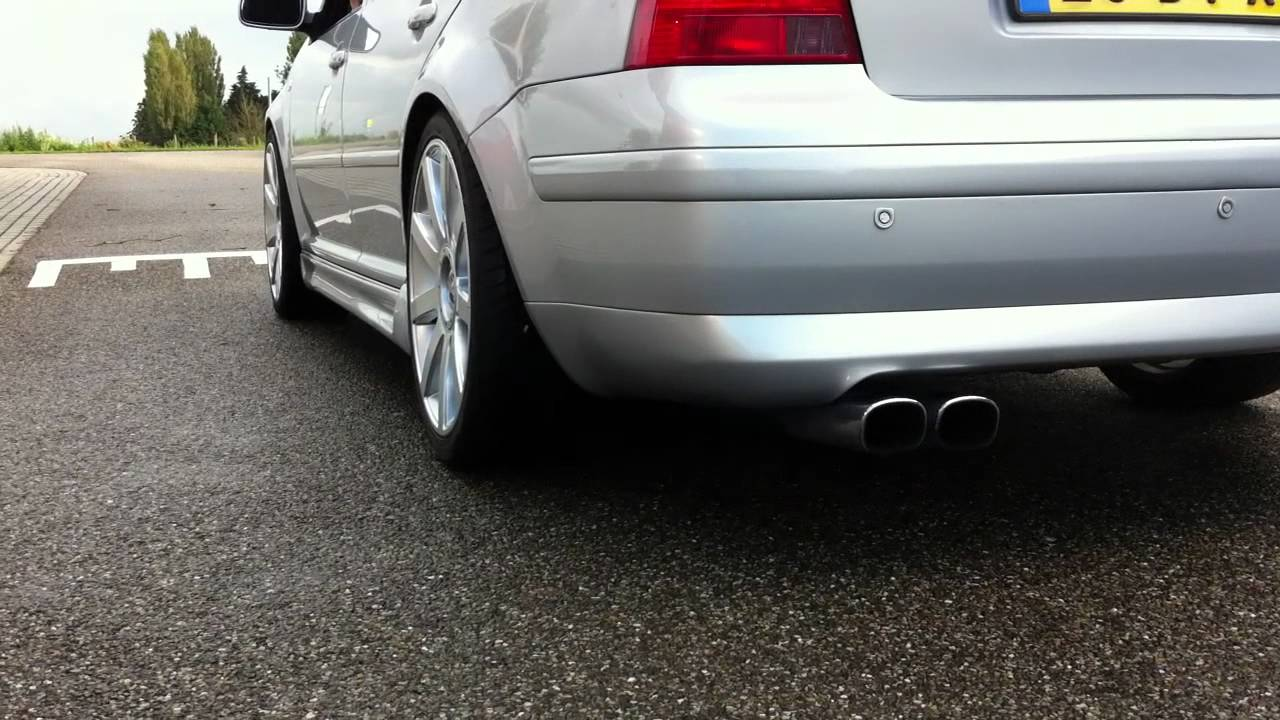 vw volkswagen borajetta   sebring exhaust youtube