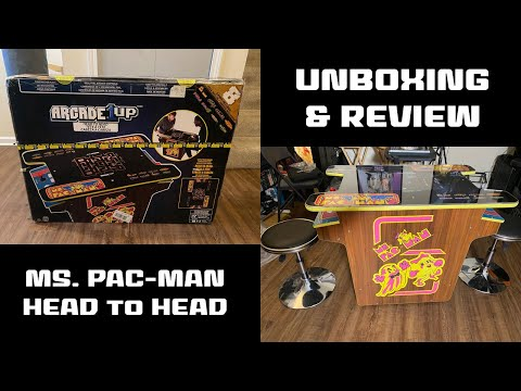 Arcade1up Ms. Pac-Man Head to Head Cocktail Cabinet Unboxing, Assembly, Review from SonicGT73