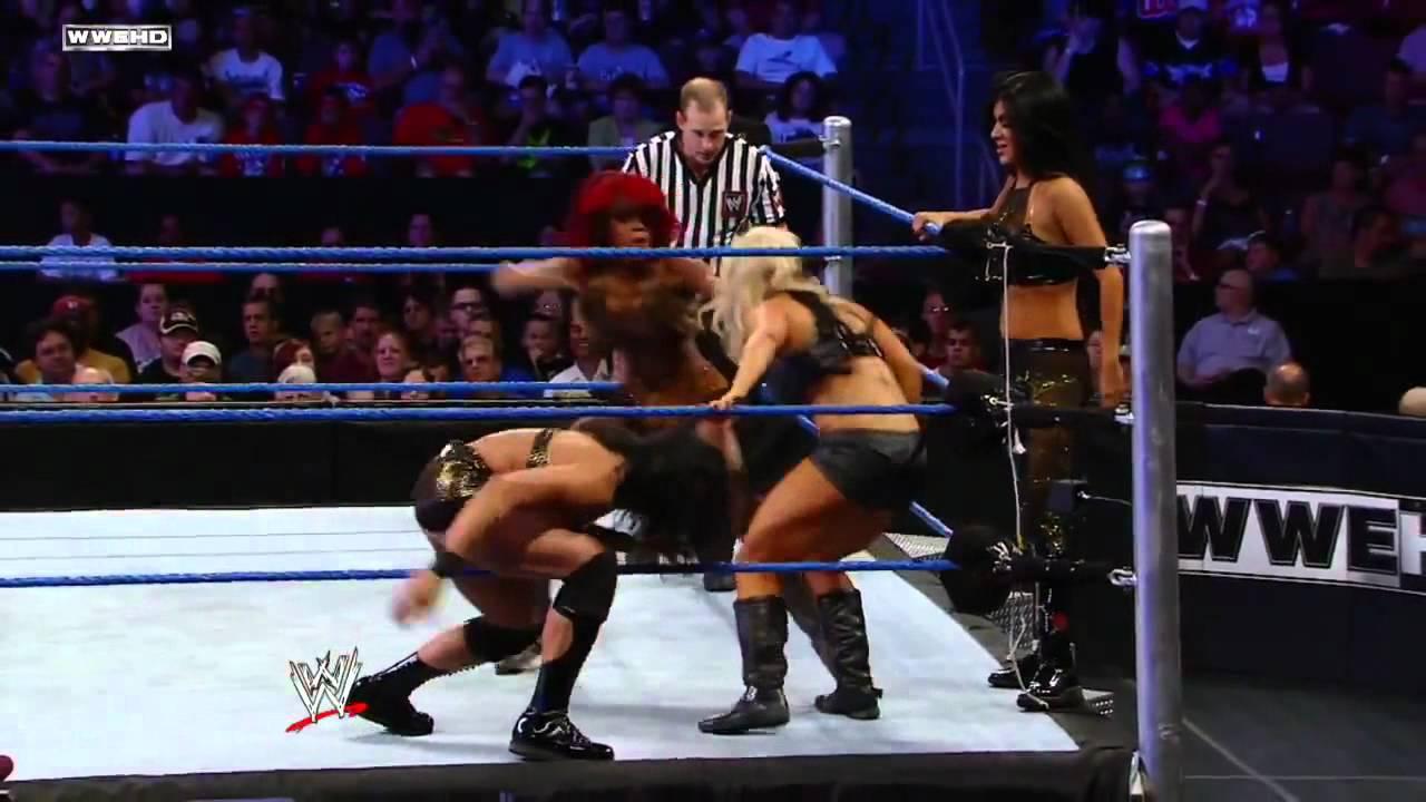 Tamina,Alicia Fox And Rosa Mendes Vs Aj Lee,Kaitlyn,And -5327