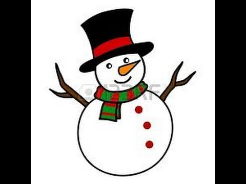 easy kids drawing lessons how to draw a snowman step by step christmas special youtube - Easy Pictures For Kids To Draw