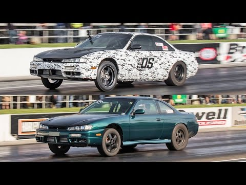TWIN 800+hp Nissan 240SX's - 2JZ and SR20DET Powered!