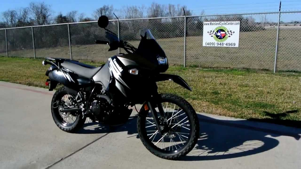 2012 Kawasaki KLR650 Black - YouTube