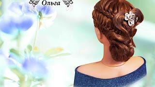 Красивая прическа на длинные волосы. Beautiful hairstyle Kapralova Olga