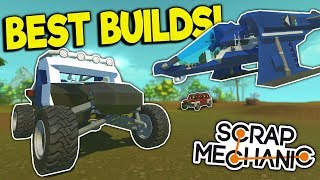 Epic Off-Road Truck, Spaceship, Tow Truck & More! - Scrap Mechanic Gameplay - Best Builds