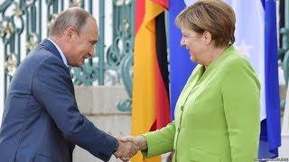 Путин и Меркель встретились в Берлине /  Новости