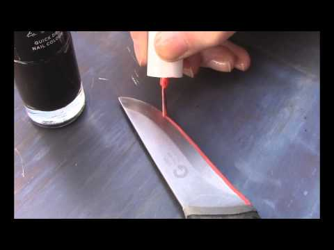 DIY Etching Knife Blades with Hydrochloric acid (basic)