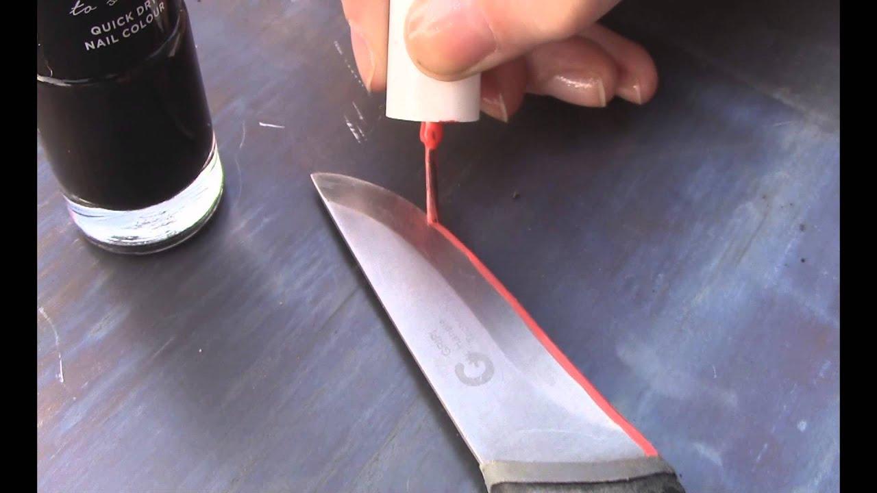 DIY Etching Knife Blades with Hydrochloric acid (basic) - YouTube