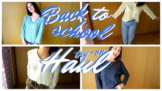Try-on HAUL!|  Back to school 3. 2017 | Mary Channel