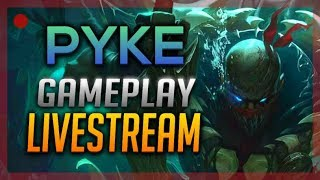 [LIVE] NEW CHAMPION: Pyke, the Bloodharbor Ripper | League of Legends Gameplay