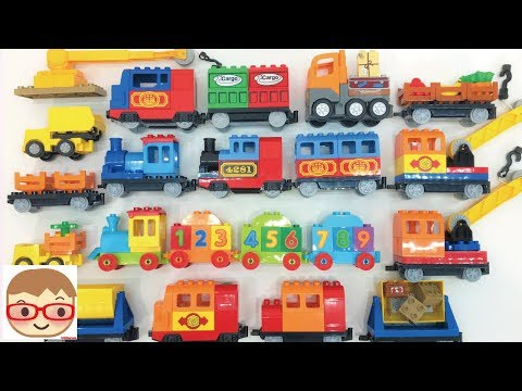 Toy Train Videos for Children | Building Blocks for Kids | Railway Vehicles
