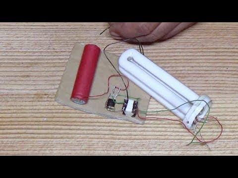 CFL Lamp On DC 3 volt without kit mini inverter