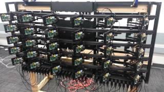 first demo of 30 nodes pi cluster
