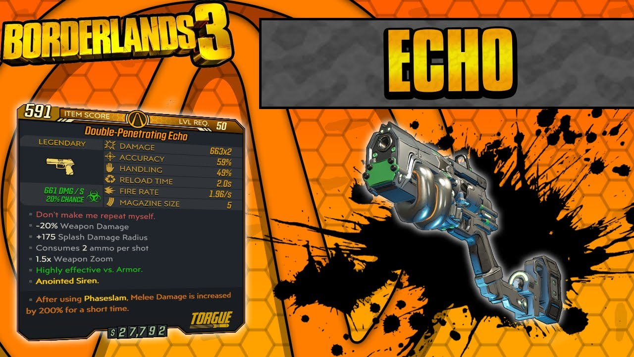 Borderlands 3 | Echo Legendary Weapon Guide (Continuous Explosions!) thumbnail
