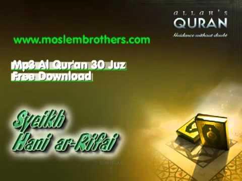 Free Mp3 Quran 30 Juz Syeikh Hani Ar Rifai
