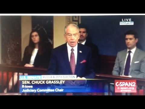 Sen. Chuck Grassley outs Schumer and Schiff! Says they KNEW Trump wasn