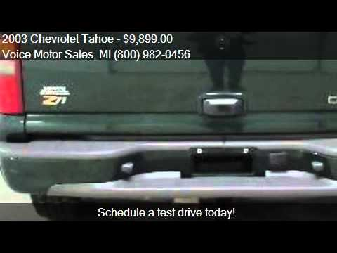 2003 chevrolet tahoe for sale in kalkaska mi 49646 at the for Voice motors kalkaska michigan
