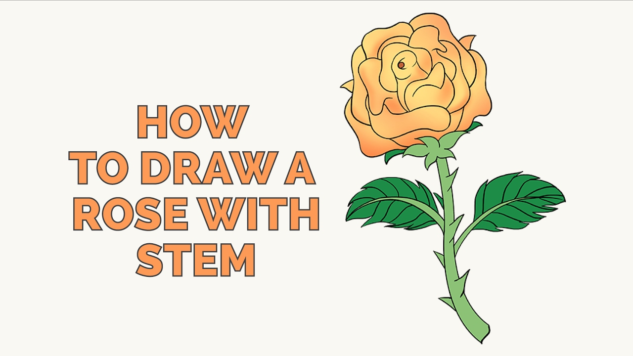 How to Draw a Rose in a Few Easy Steps: Drawing Tutorial for Kids and Beginners - YouTube