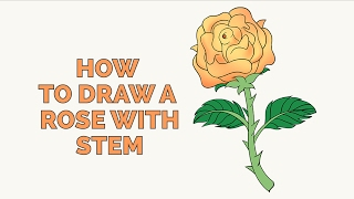 How to Draw a Rose in a Few Easy Steps: Drawing Tutorial for Kids and Beginners