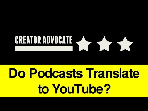 Entrepreneur Advice: Do Podcasts Translate to YouTube (or Vice Versa)? 🔴