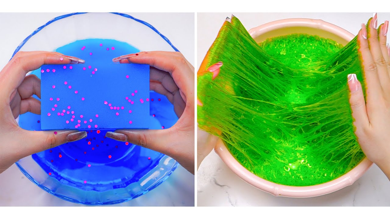 Oddly Satisfying Slime ASMR No Music Videos | Relaxing Slime 2021