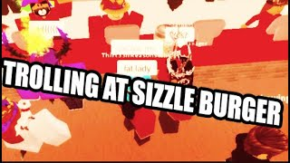 THE BEST EMPLOYEE AT SIZZLE BURGER!- ROBLOX TROLLING