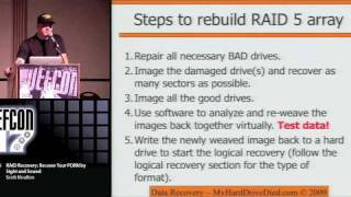 Defcon17 HARD DRIVE RAID RECOVERY 2009 Part 4/5