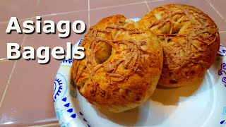 Homemade asiago bagels at deep south texas. i love and was determined to make them, but first had the cheese. finally ab...