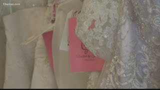 Perry bridal store gives away dresses to military brides
