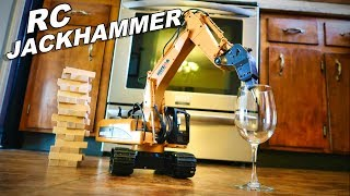 connectYoutube - RC Construction Jackhammer Breaking Stuff - Huina 560 Drill - TheRcSaylors