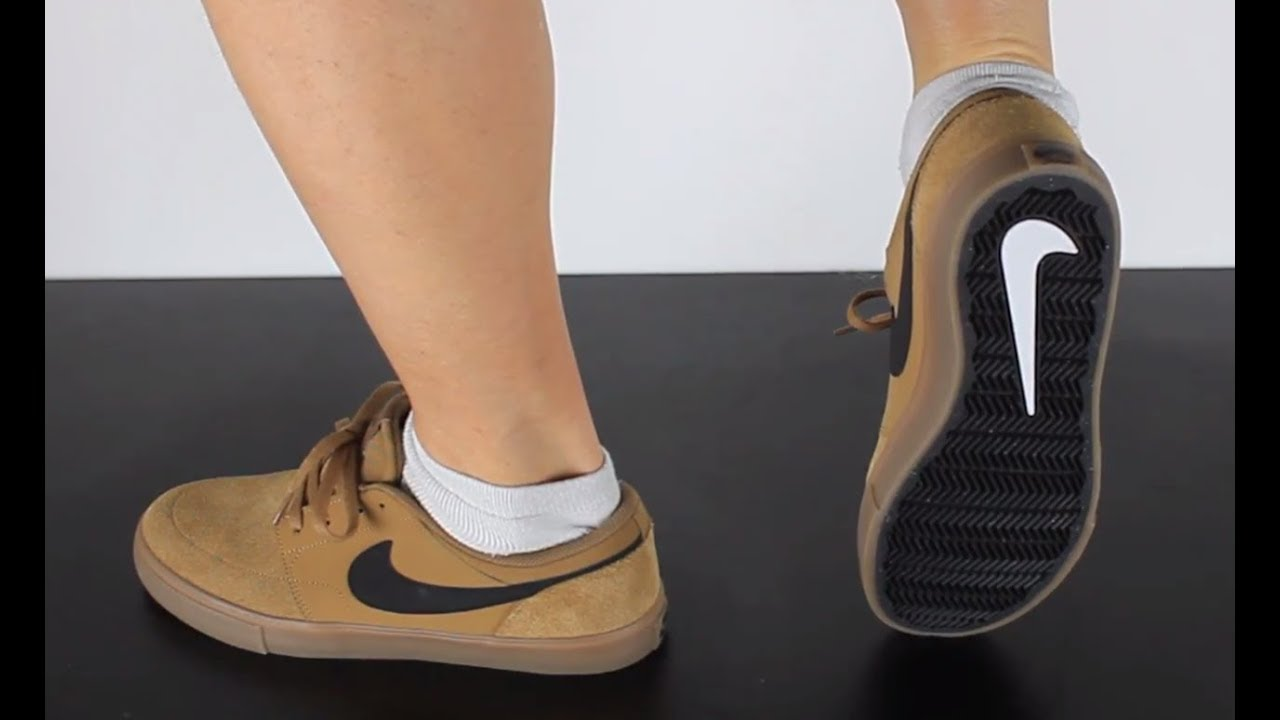 774274baa6 NIKE SB PORTMORE 2 SOLAR golden beige black - YouTube