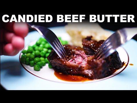 Glazed braised short ribs