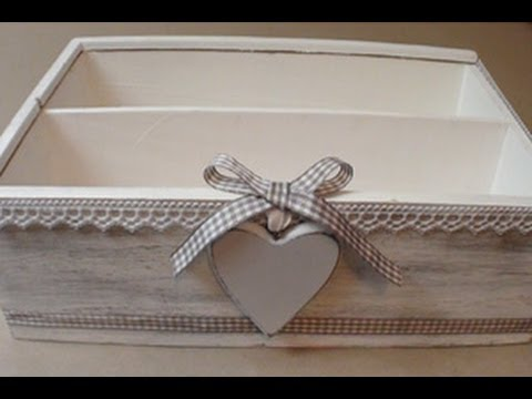 Scatola Stile Shabby Chic Video Tutorial Diy