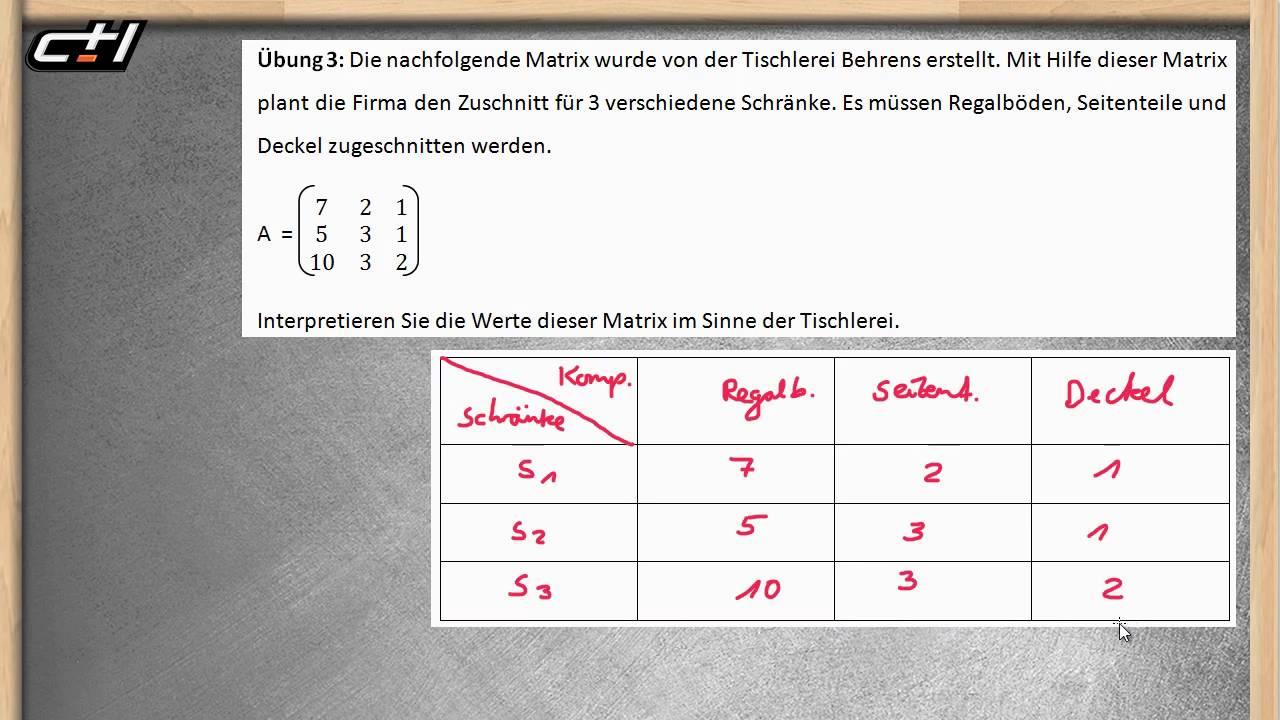 Matrizen und Prozessdiagramme || Lineare Algebra ☆ Übung und Lösung ...