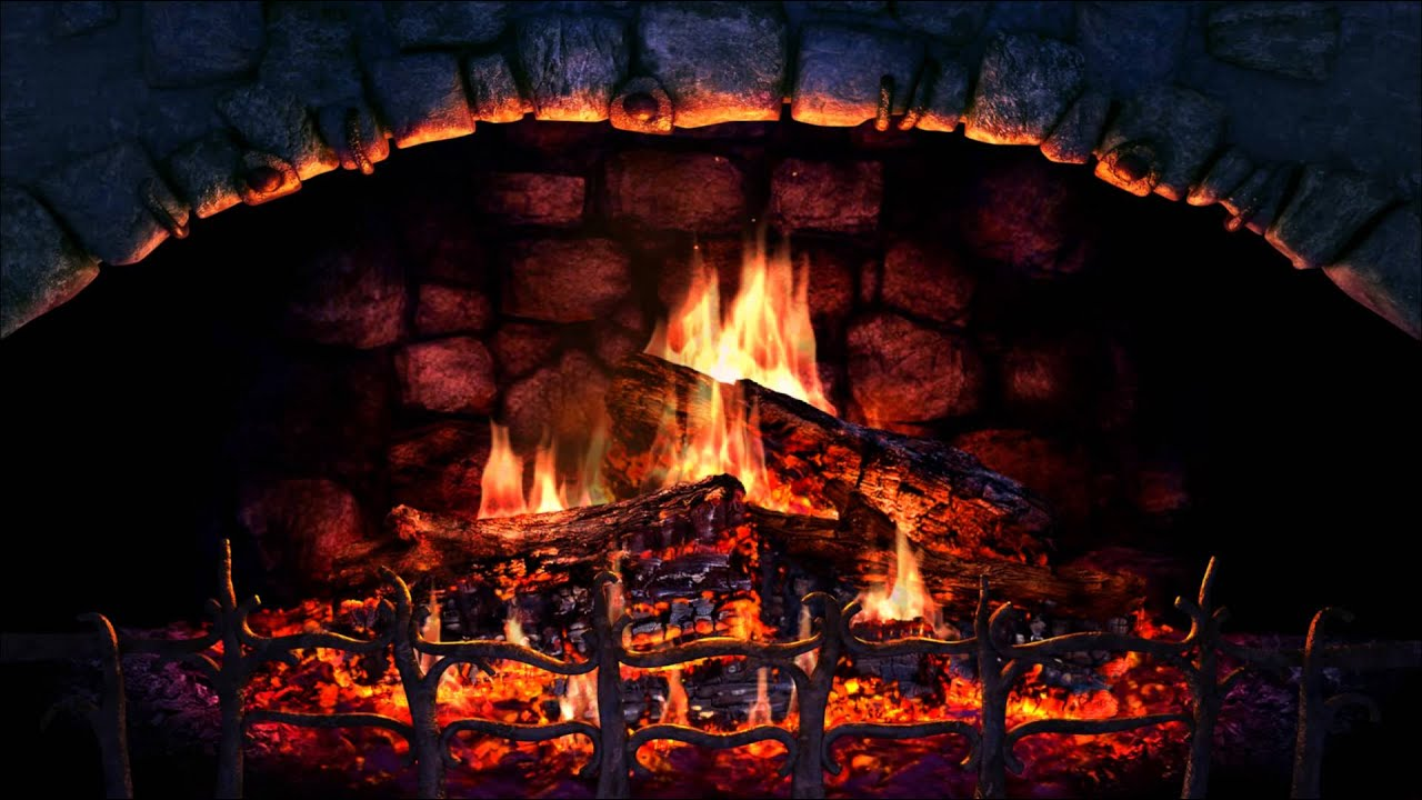 Fireplace 3D Screensaver - YouTube