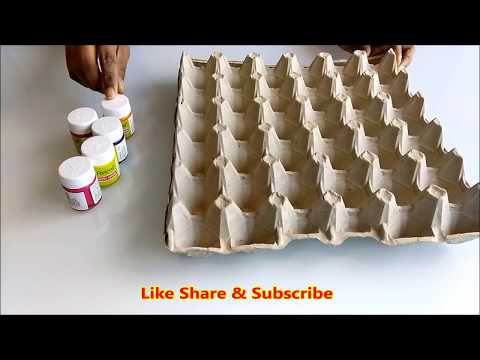 DIY| Egg carton wall hanging crafts | Best out of waste | wall decor from waste |