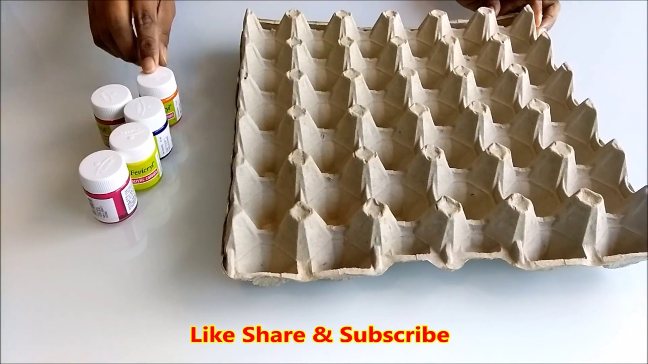 Diy Egg Carton Wall Hanging Crafts Best Out Of Waste