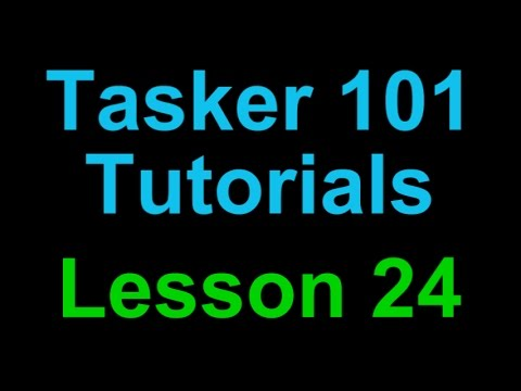Tasker 101 Tutorials: Lesson 24 - Text SMS Message Pop Up w/Action Buttons