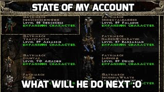 Diablo 2: State of my accounts - What I want to do next?
