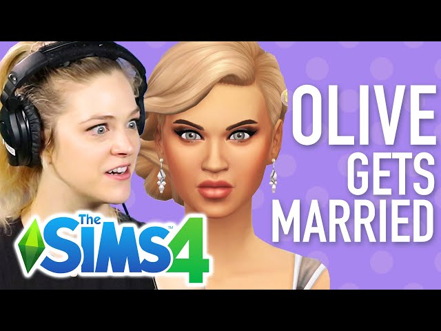 Single Girl's Famous Daughter Gets Married In The Sims 4