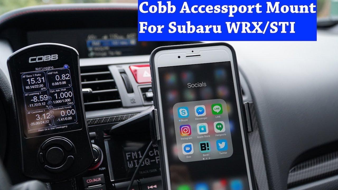 Cobb Accessport Mount in Subaru WRX/STI 2015+