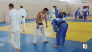 3-Man Judo Throws Training Drill with Georgian Judo Team