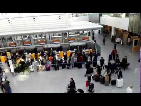Munich airport terminal 2 München Flughafen, Bavaria, Germany
