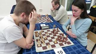 GM Zakhartsov (Russia) - WFM Protopopova (Russia) Blitz.