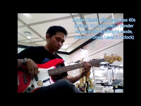 Alex Kuple - Squier Classic Vibe Jazz Bass 60s + Fender Rumble 200 V3 Drive