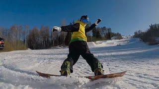 Сноубординг на Красном озере. Vlog#9